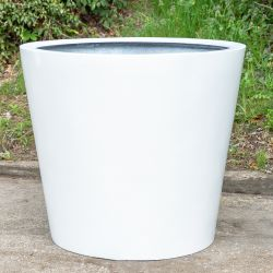 H73cm Large Classic Stone Composite Planter in White