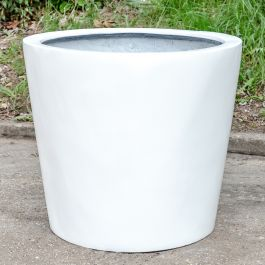 H85cm XL Classic Stone Composite Planter in White