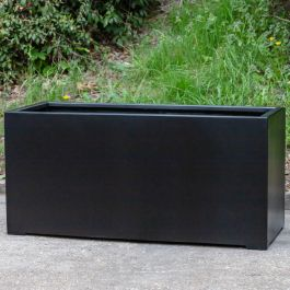 L1.2m XL Stone Composite Trough Planter in Black