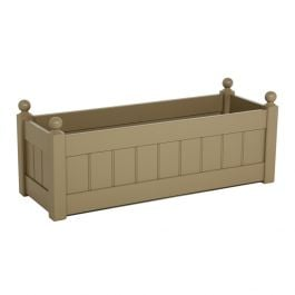 W86cm Classic Trough Planter in Nutmeg