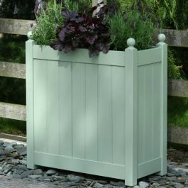 H70cm Tall Trough Planter in Sage