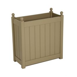 H70cm Tall Trough Planter in Nutmeg