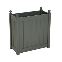 H70cm Tall Trough Planter in Charcoal