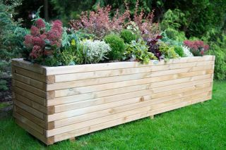 6ft Wooden Lomello Trough Planter