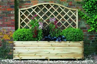 6ft Wooden Venice Trough and Trellis Planter