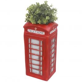 H38.5cm Telephone Box Frost Proof Polyresin Planter