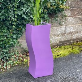 H95cm Tall Fibreglass 'S' Shape Planter in Matt Finish