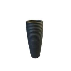 H120cm Fibreglass Tall Beehive Style Planter in Matt Finish