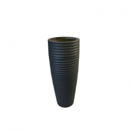 H90cm Fibreglass Tall Beehive Style Planter in Matt Finish