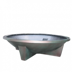 H50cm Fibreglass XL Cauldron Planter in Matt Finish