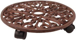 Cast Iron Round Pot Mover /Trolley - 34.5cm (1ft 1 in)