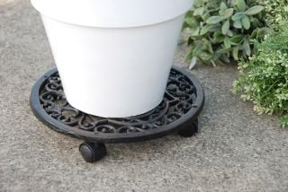 Cast Iron Round Pot Mover / Trolley - 29cm (11in)
