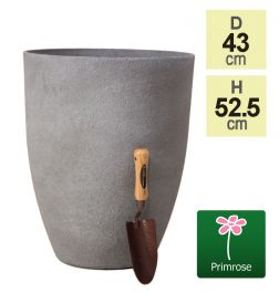 H52cm Volcanic Grey Planter - By Primrose™