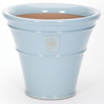 51cm Glazed Terracotta RHS Sky Blue Cone Planter