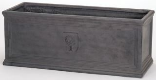 L75cm Fibrecotta RHS Lead Effect Trough Planter