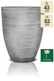 53cm Grey Cortina Stone Cone Planter - By Primrose™