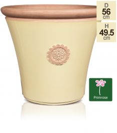 56cm Tuscan Round Planter in Light Pistachio with Terracotta by Primrose™
