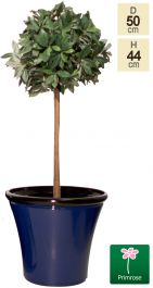50cm Royal Blue Glaze Effect Planter - By Primrose™
