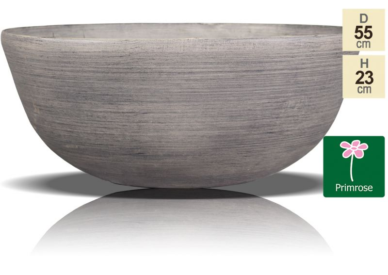 55cm Cortina Stone Bowl Planter - By Primrose®
