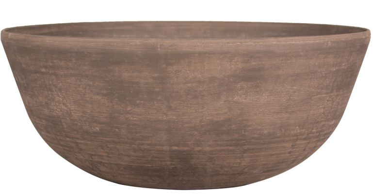 H23cm Cortina Wood Effect Bowl Planter - By Primrose®