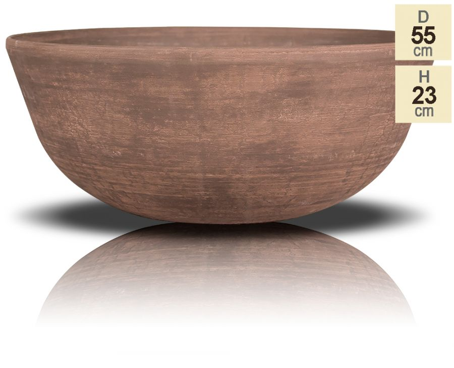 H23cm Cortina Wood Effect Bowl Planter - By Primrose™