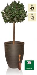 53cm Black Cortina Stone Cone Planter - By Primrose™