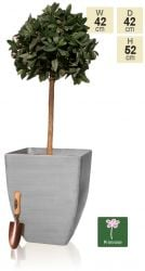 52cm White Cortina Stone Effect Square Planter - By Primrose®