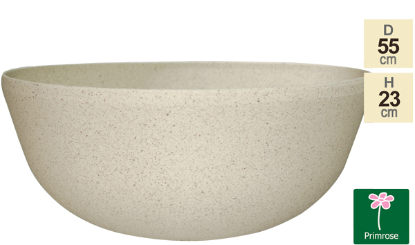 55cm Stone Effect Bowl Planter In White - By Primrose™
