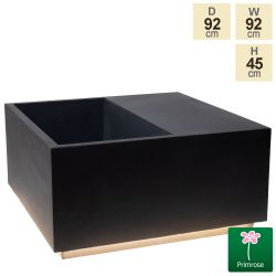 92cm Granite Fibrecotta Square Planter with LED Lights