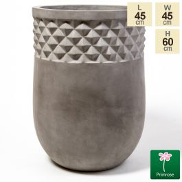 60cm Textured Feature Concrete Round Planter