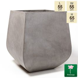 65cm Oslo Rounded Base Concrete Square Planter