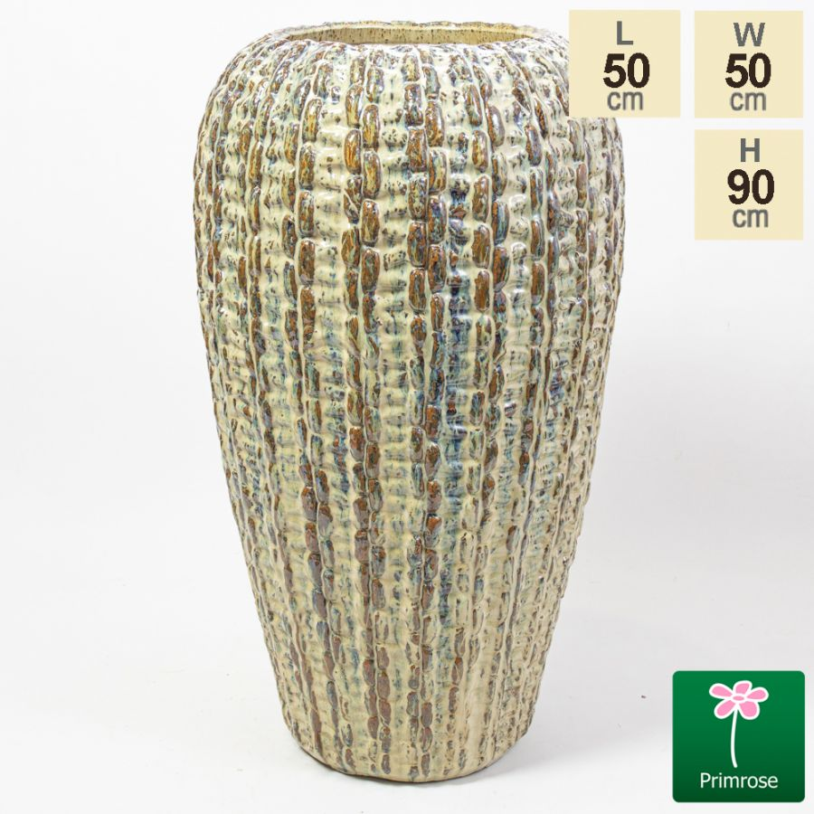 90cm Manchester Weave Effect Ceramic Tall Planter
