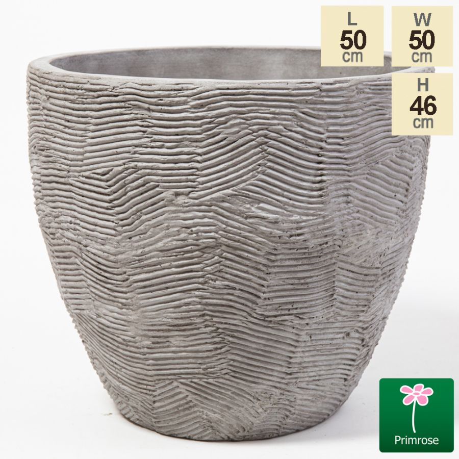 46cm Scrape Texture Finish Egg Shaped Planter