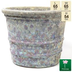 54cm Tavolino Patina Ceramic Flared Planter - Large