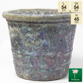 45cm Tavolino Patina Ceramic Flared Planter - Small