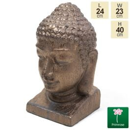 40cm Gold Ceramic Buddha Head