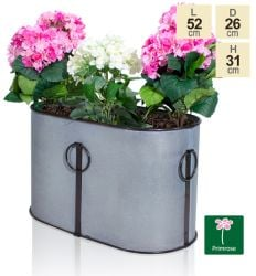 L52cm Hurley Vintage Zinc Trough Planter by Primrose®