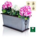 Caterbury Vintage Zinc Planter - L54cm by Primrose™