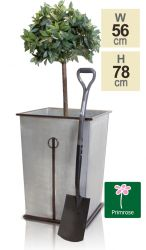 77cm Vintage Zinc Flared Square Planter - Streatly  by Primrose™