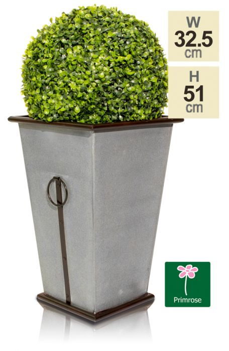 51cm Vintage Zinc Flared Square Planter - Streatly by Primrose™