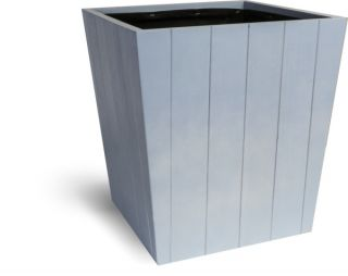 37cm Hardwood Tapered Planter Coastal Blue