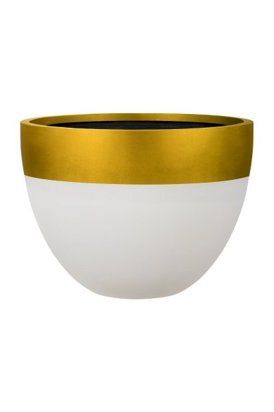 Egg Planter 40cm - Stone & Gold