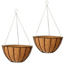 Set of Two 30cm Classic Hanging Basket Planters by Gardman