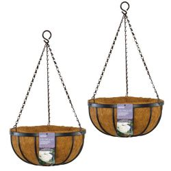 Set of Two 35cm Georgian Hanging Basket Planters by Gardman