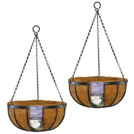 Set of Two 40cm Georgian Hanging Basket Planters by Gardman