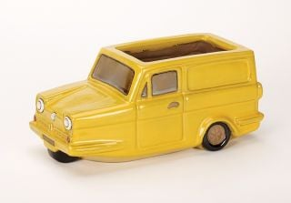L31cm Yellow Three Wheeler Planter - Glazed Finish