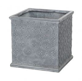 H45cm Pembroke Antique Grey Cube Planter
