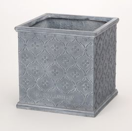H38cm Pembroke Antique Grey Cube Planter