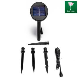 Set of Three Solar Powered LED Planter Stake Lights
