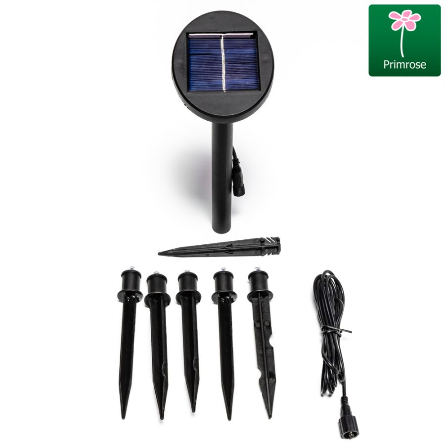 Set of Five Solar Powered LED Planter Stake Lights